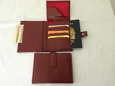 Wholesale Lot Leather Travel Wallet Passport - Burgundy Red (AE-13) - 10 Pieces