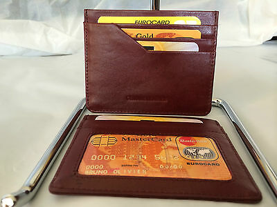 Wholesale Lot Universal Leather Ultra Slim Wallet - Burgundy (AEC-26)- 10 Pieces