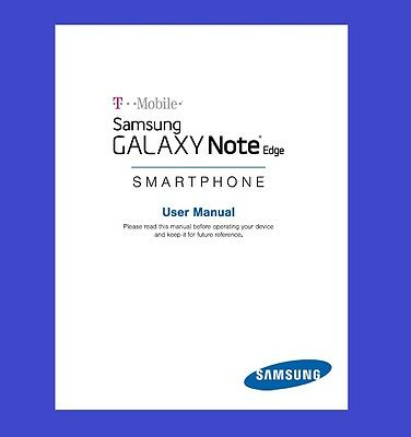 Samsung Galaxy Note Edge User Manual for T-Mobile (model SM-N915T)