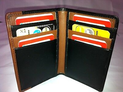 Mens Wallet Slim Genuine Leather w/ 6 Credit Cards Holder