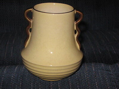 COLLECTIBLE CARLTON WARE SMALL YELLOW VINTAGE VASE / DECO STYLE/ ENGLAND
