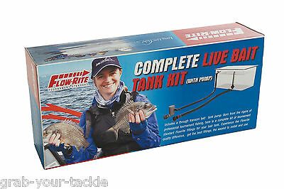Live Bait Tank Kit Livewell 12 Volt Aerator Submersible Cartridge Pump 750 GPH