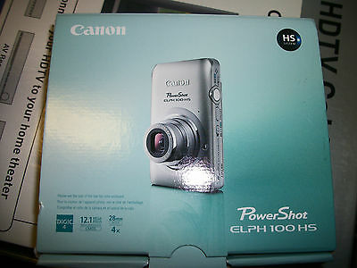 Brand New Retail Box Canon PowerShot ELPH 100 HS Digital Camera - Gray