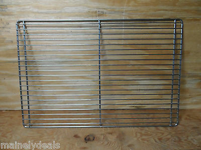 """Lot Of 10 17"""" X 25"""" Commercial Oven Racks Full Size Used"""