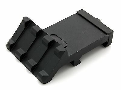 Low Profile Tactical 45 Degree Offset Angle Mount 3 Slot Picatinny Weaver Rail