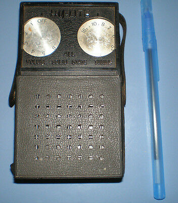 HY LITE A.M. BAND DE-LUXE All Solid State POCKET TRANSISTOR RADIO