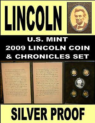 Lincoln Chronicles Set 2009 Silver Dollar Set Gettysburg Address & Sleeve Rare