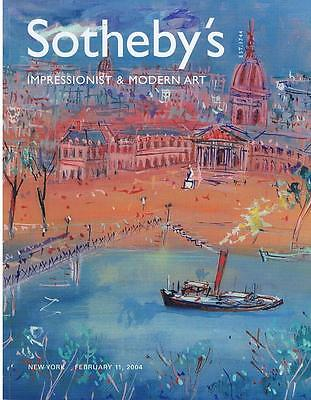 Sotheby's NY; Impressionist Modern Art; Sale N07968 Wed 11 Febuary 2004