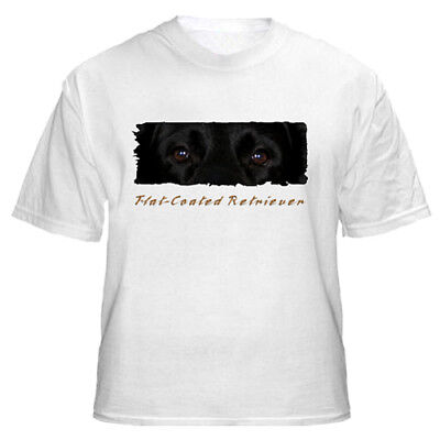 """Flat  Coated  Retriever    """" The Eyes Have It  """"   T shirt"""