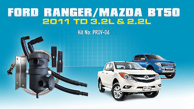 Mann ProVent Catch Can Kit for Ford Ranger PX Mazda BT50 XT 2011-on 3.2L 2.2L