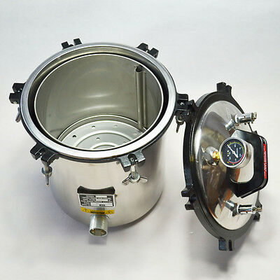 18L Autoclave Sterilizer Hosptial Heath Lab Equipment Stainless Steel High Level