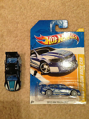 HOT WHEELS FORD Black Falcon Race Car Loose EXCLUSIVE V8 Supercar Blue Lot of 2