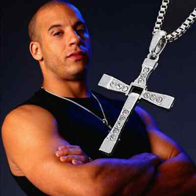 Fashion Unisex's Men Stainless Steel Cross Pendant Necklace Chain Silver/Gold Tp