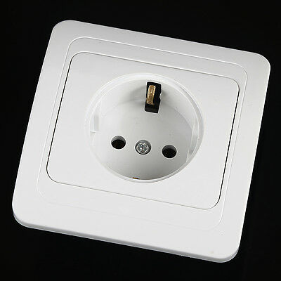 New EU Standard 16A 250V Wall Socket outlet with White Panel