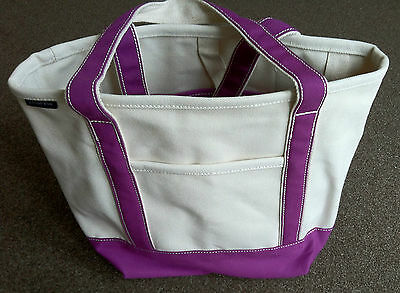 LANDS END BAG HOLDALL Multi purpose BEACH CRAFT Sturdy 2 colours & 2 sizes