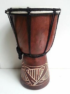 Bongo Djembe Children's Kids Drum Mahogany Wood Tribal Carved Height Bali 20Cm