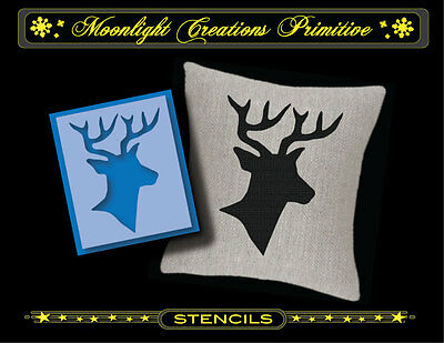 Primitive Stencil~HOLIDAY DEER~Old Style Victorian Country Christmas