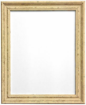 Heavily Distressed Old Vintage Cream Photo Picture Frames In Various Sizes