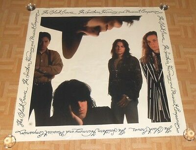 The Black Crows Southern Harmony Original 1992 Promo Poster HUGE 42x42
