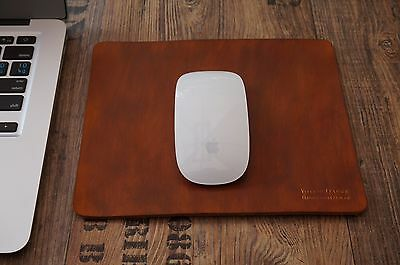 Genuine Real Leather Handmade Mouse Pad Antique Retro Classic Vintage Brown Tan