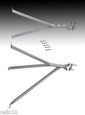 "24"" Stand Off Wall Antenna Mast Mount for Masts 2"" - 4"" - Y Style -  EZ 30-24W"