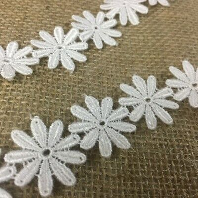 Ivory or White Victorian Scalloped Venice Lace Trim, 5 Yard Lot