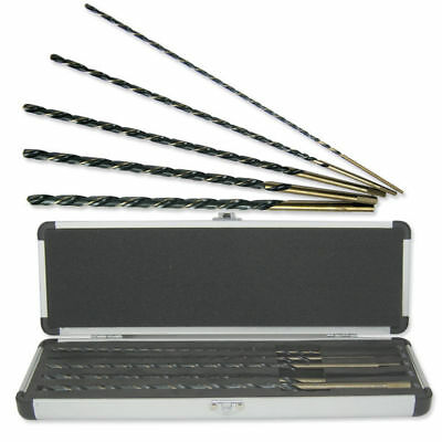 "5pc 12"" Drill Bit Set Extra Long High Speed Set"