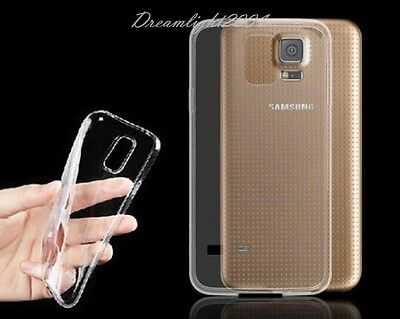 Crystal Clear Soft TPU Silicone Case Cover Skin for Samsung Galaxy S5 I9600