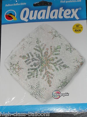 """18"""" Silver Snowflake design Holographic Foil Balloon -Great for christmas/frozen"""