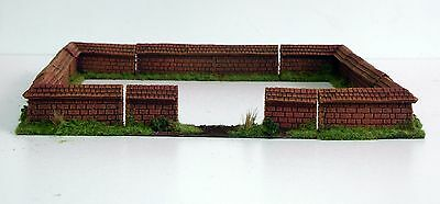 WALLS Set -  8 pieces - wargame scenery Warhammer 28mm Resin Unpainted
