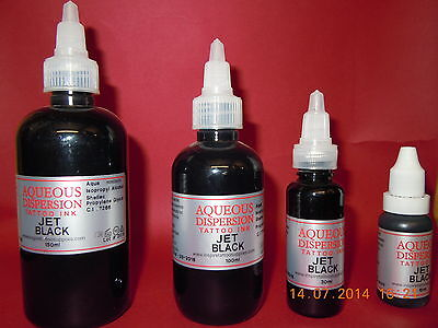 TATTOO INK JET BLACK TRIBAL 150.100.30.15ml Inspire UK