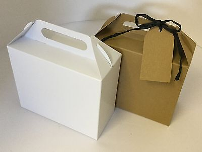 Eco Kraft Card carry Boxes, Gift or Wedding Favour Boxes CHECK DIMENSIONS