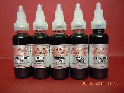 Professional SUMI TATTOO INK SET -15ml - 30ml - 50ml -100ml-150ml  grey shader