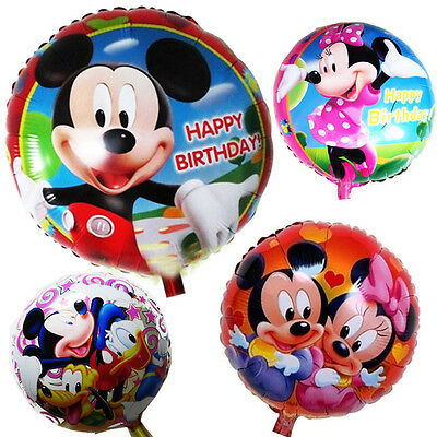 """Disney Mickey Mouse Clubhouse """"18"""" Happy Birthday Balloon Set Party Decoration"""