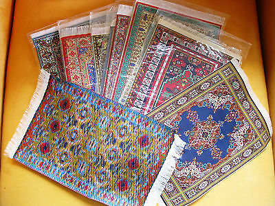 """Turkish Woven Miniature Dollhouse Carpets/Rugs-Lot of 1 Assorted - 12"""" x 8"""""""