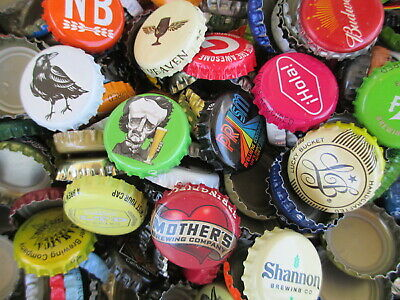 100 Mixed Beer Bottle Caps ( No Dents ) Free S&H