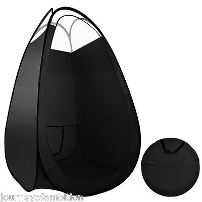 Portable Spray Tan Tent Large Black Pop Up Tanning Mobile Booth 100 x 100 x190cm