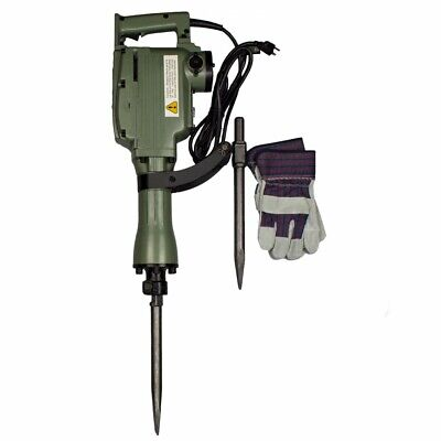 Electric Jack Hammer | 1240W Demolition Concrete Breaker w/ 2 Heavy Duty Chisel