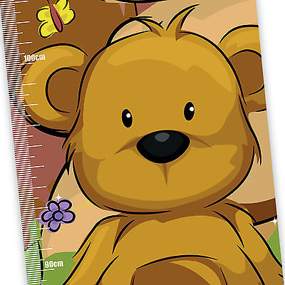 My Teddy Bear Children's Height Chart with FREE metallic stickers
