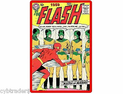 1959 The Flash Comic  Refrigerator / Tool Box Magnet  Man Cave