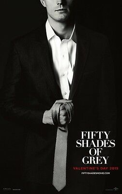 "FIFTY SHADES OF GREY -2015- orig D/S 27X40 ADV ""B"" Movie Poster - JAMIE DORNAN"