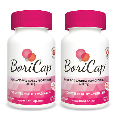 BoriCap Boric Acid Vaginal Suppositories - Yeast Infection BV Treatment 60 Caps