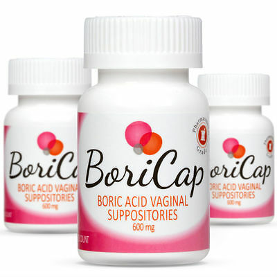 BoriCap Boric Acid Vaginal Suppositories - Yeast Infection BV Treatment 90 Caps
