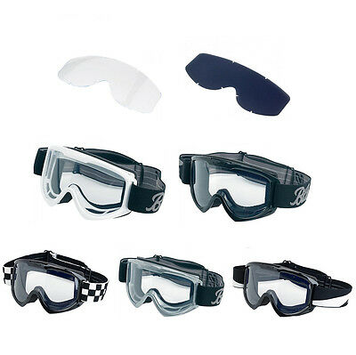 *SHIPS SAME DAY* BILTWELL MOTO 2.0 GOGGLES for Motorcycle Off Road Helmets