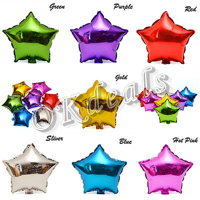 18 Inch Star Shape Foil Metallic Balloon For Birthday Wedding Parties Valentine