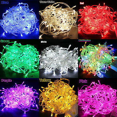 100/200 LED Fairy String Lights Bulbs Waterproof Party Christmas Tree Decoration