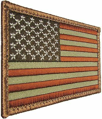 72a8cff64248 Usa American Flag Tactical Us Morale Military Desert Velcro® Brand Fasten  Patch
