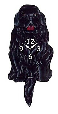 Wall Clocks -  Newfoundland Wagging Tail Wall Clock - Dog Clock