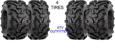 25x8-12 & 25x10-12 Kenda Bear Claw K299 ATV Tires- 6 Ply Rated- Set of 4 (FOUR)
