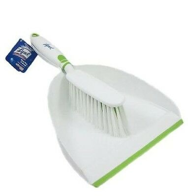 New Quickie Lysol Complete Clean Antimicrobal Dust Pan and Brush Set Mfg 57402